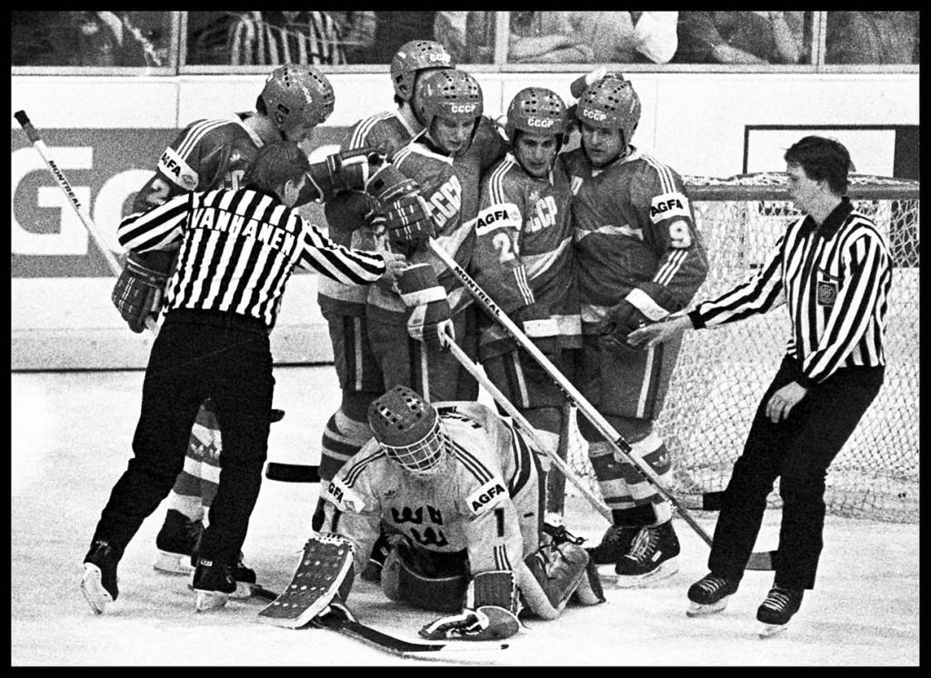Ishockey VM, Sovjet - Sverige